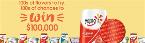 Yoplait Sweepstakes 100 000 - enter your code at yoplait com 100ways for a chance to win 100 000