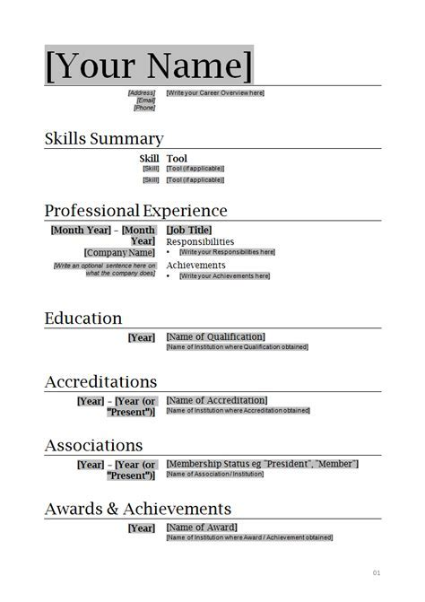 image professional resume format template download