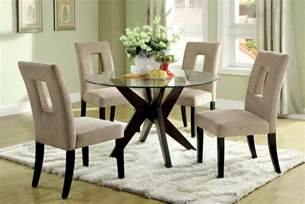 Circle Dining Table Set Tempered Glass Top Dining Table Set For Small Spaces Minimalist Desk Design Ideas