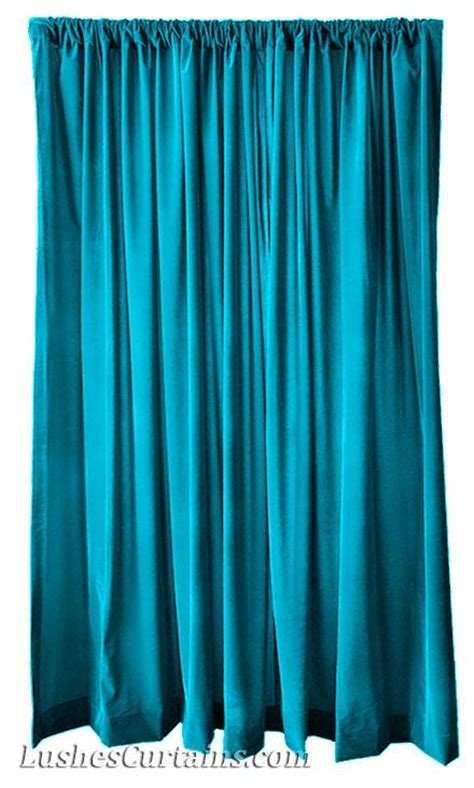 turquoise velvet curtains extra wide turquoise 120 inch h velvet curtain long panel