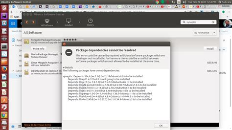 ubuntu 14 04 install 6 package management cannot install synaptic on ubuntu 14
