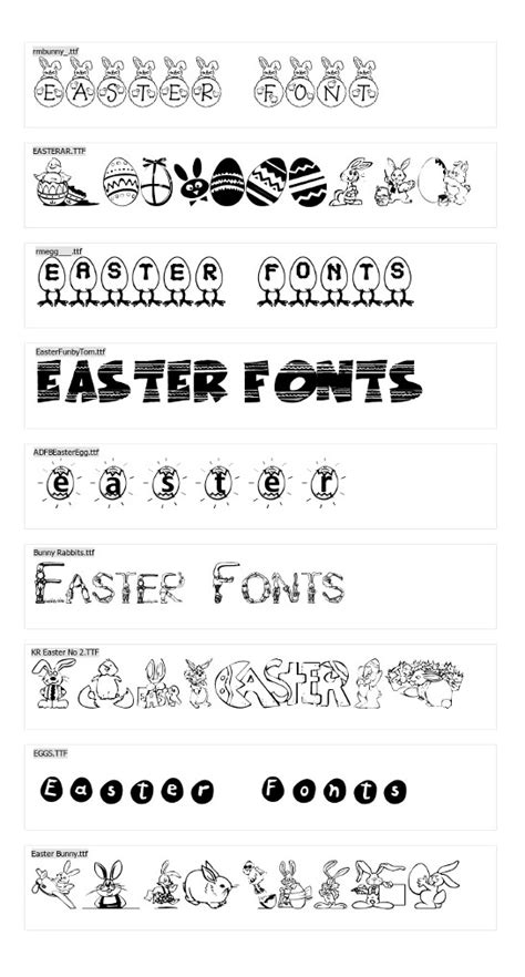 printable easter fonts easter fonts free truetype and clb easter font free