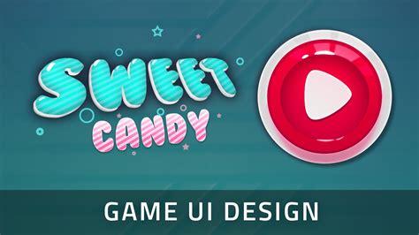 game design youtube game ui design game button in adobe photoshop speedart