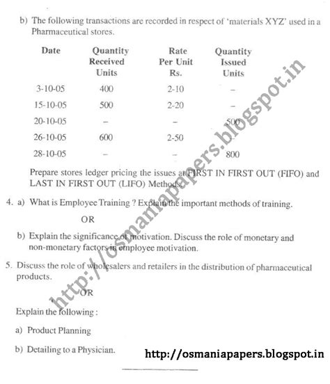 dosage form design question paper fourth year first semester 2010 osmania university