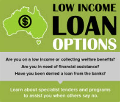 low income and centrelink loan options