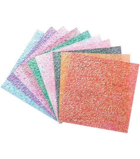 6 Inch Origami Paper - folia origami paper 6 quot x6 quot textured iridescent 50 pkg