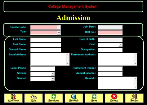 form design for library management system in vb college management system in visual basic 6 0