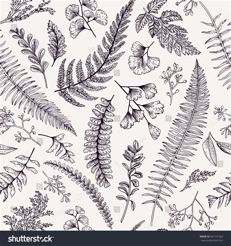 clipart vintage style floral pattern seamless floral pattern vintage style leaves stock vector