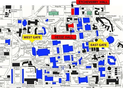 map uc berkeley cus visitor information mechanical engineering