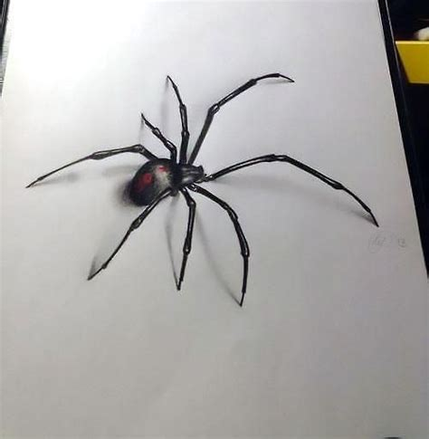 3d spider tattoo designs 3d spider design black widow scary