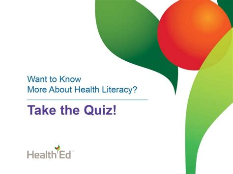 Low Health Literacy Take Our Quiz About Us Our Health Our Health Agency