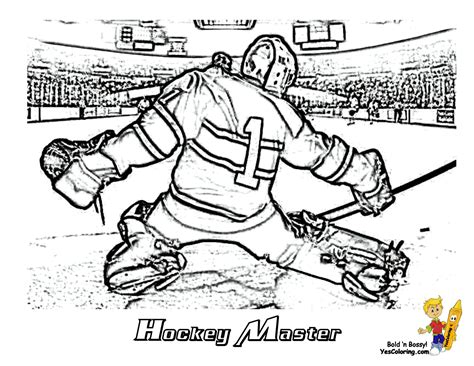 free coloring pages of hockey player