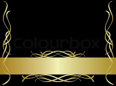 black and gold background stock vector colourbox