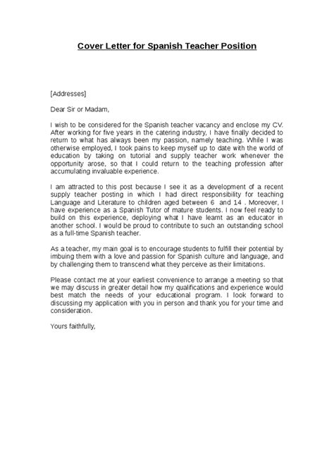 cover letter espanol writingconsultant web fc2 sle application letter for high school teachers