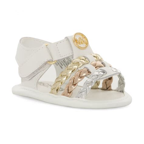 michael kors sandals for babies michael kors infants baby teza sandals white from