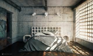 Industrial Bedroom Cgarchitect Professional 3d Architectural Visualization