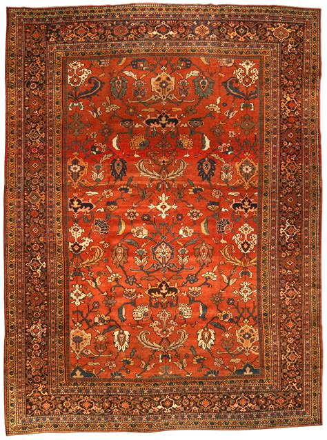 antique rug carpet with floral ornaments interior