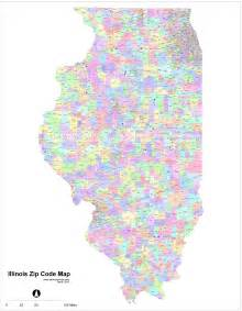 zip codes illinois map