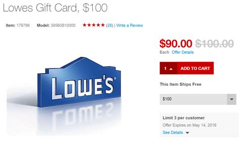 Lowes Gift Card 10 - 100 lowe s gift card for 90 from staples stacks with 5x ink or amex offer