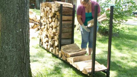 woodeze expandable firewood rack youtube
