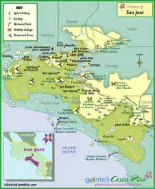 San Jose Cr Map by San Jose Region Map Costa Rica Go Visit Costa Rica
