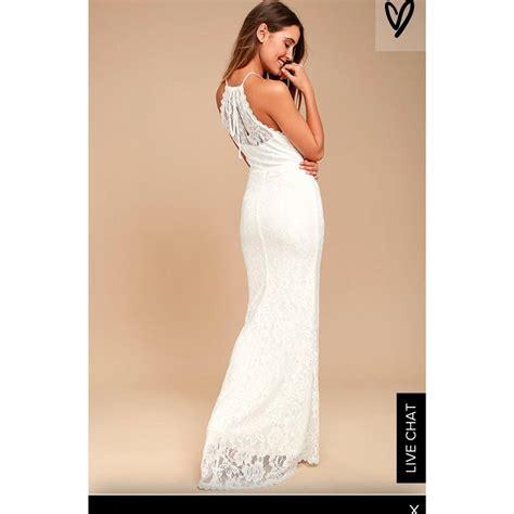 Wedding Dress Xs by Lulu S White Lace Destination Wedding Dress Size 0 Xs