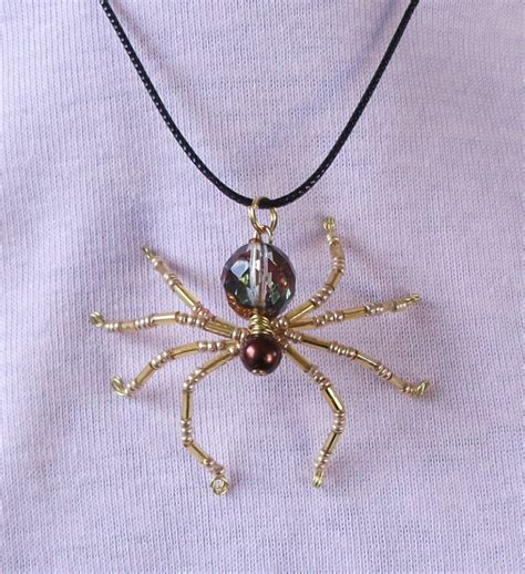 beaded spider beaded spider pendant necklace 10 00 via