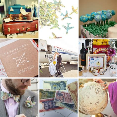 travel themed wedding decorations 22 ways to incorporate your of travel into your