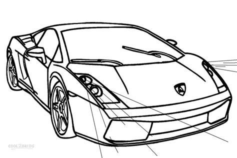 Lamborghini Coloring Pages Printable by Printable Lamborghini Coloring Pages For Cool2bkids