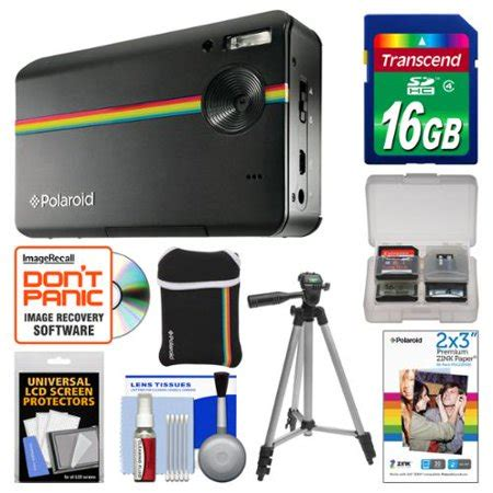 polaroid z2300 10mp digital instant print camera (black