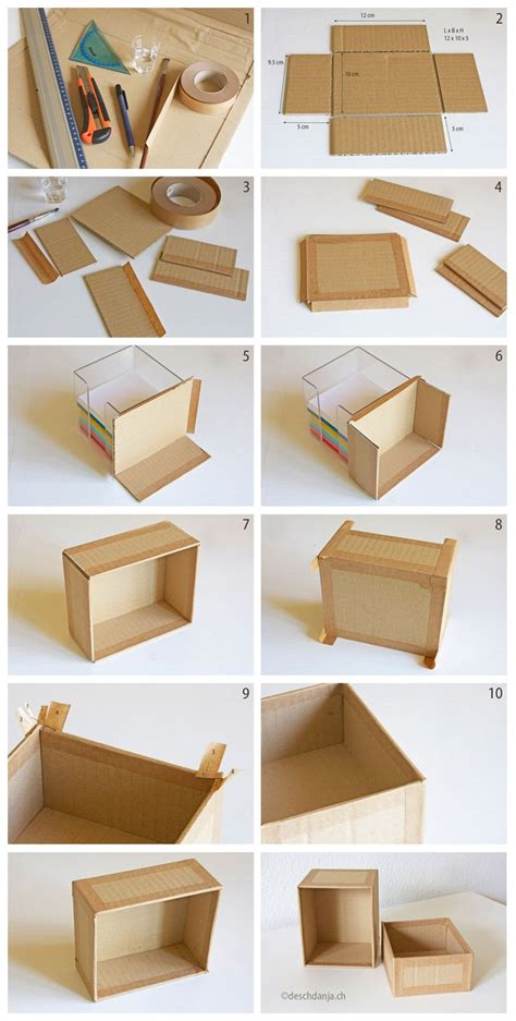 How To Make A Small Box Out Of Construction Paper - how to make your own cardboard box www deschdanja ch