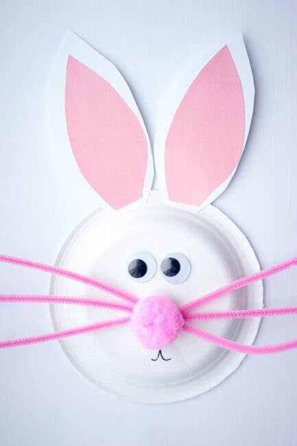 Paper Plate Bunny Craft - 11 easy easter crafts you can make with your