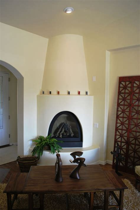 Kiva Gas Fireplace by Challenges Of An In Fill Lot Soledad Earth Builders