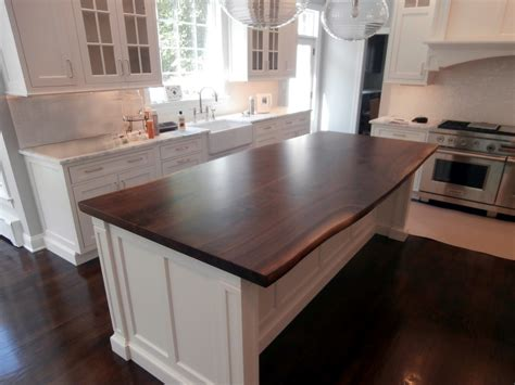 Wood Tops For Kitchen Islands by Live Edge Wood Countertops Brooks Custom