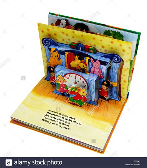 libro apop up book of nursery the nursery rhyme hickory dickory dock in a pop up book of nursery stock photo royalty free