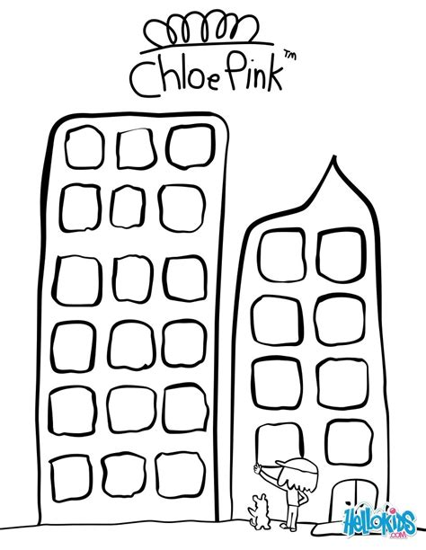 skyscraper coloring pages coloring pages