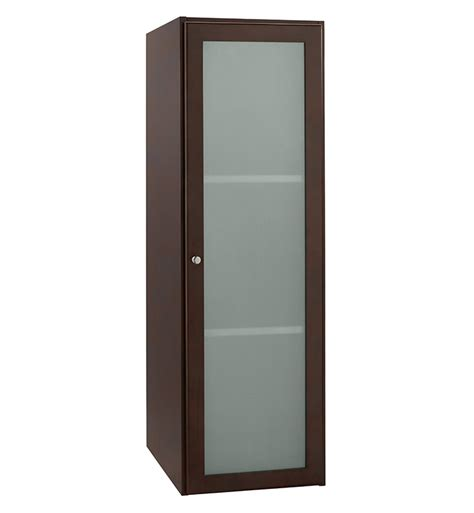Glass Door Linen Cabinet Ronbow 679015 1 H01 Shaker 15 Quot Linen Cabinet Storage Tower With Frosted Glass Door In Cherry