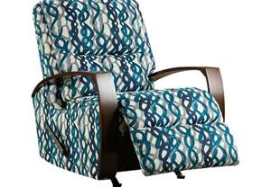 Accent Recliner Chair Basque Turquoise Accent Recliner Accent Chairs Blue