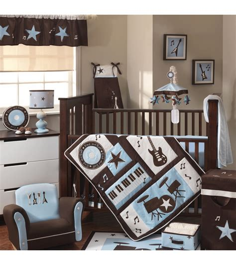 Lambs Ivy Rock N Roll 5 Piece Crib Bedding Set Rock And Roll Crib Bedding