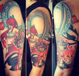 fairy tail tattoo jakitatu anime fairy tail half sleeve