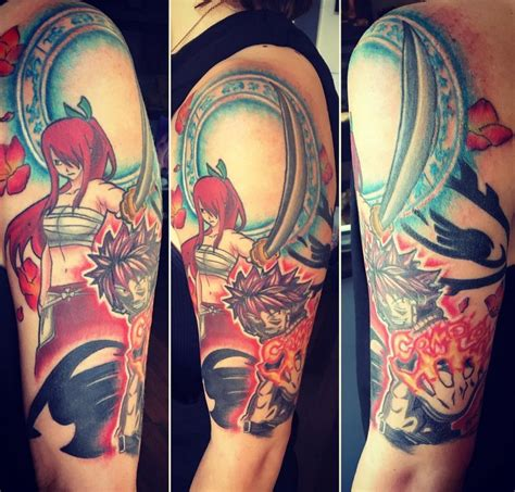 anime sleeve tattoo designs jakitatu anime half sleeve anime anime