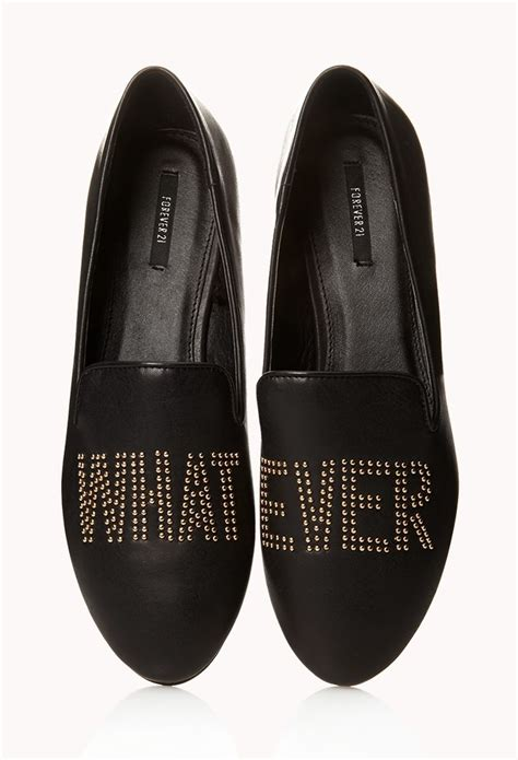 Stud Loafers whatever stud loafers forever21 2075610281