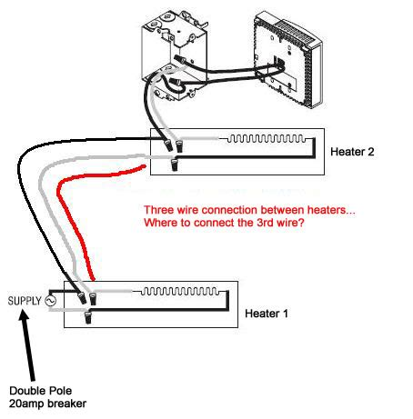 electric baseboard thermostat wiring diagram diagram