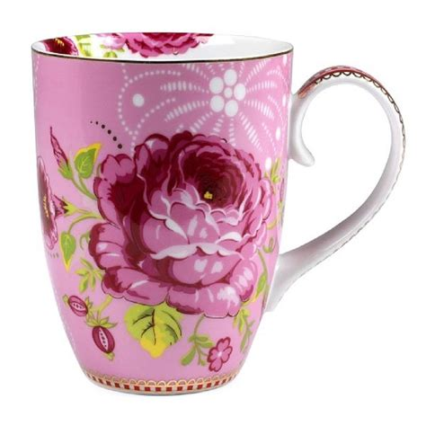 pretty mugs set of two large flower mugs by fifty one percent