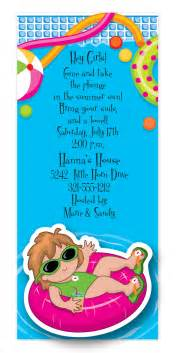 pool wigglers invitation