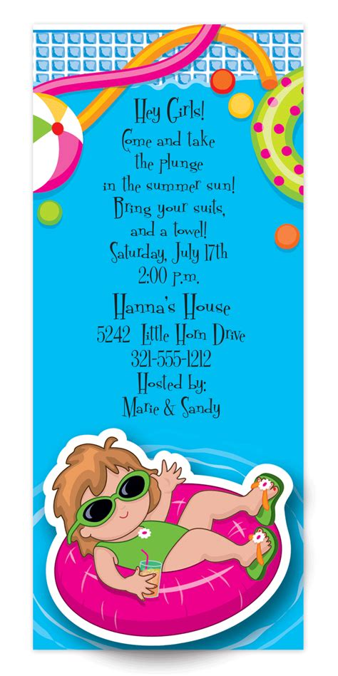 swimming invitation template pool wigglers invitation
