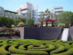 images of gardens of the j paul getty center museum