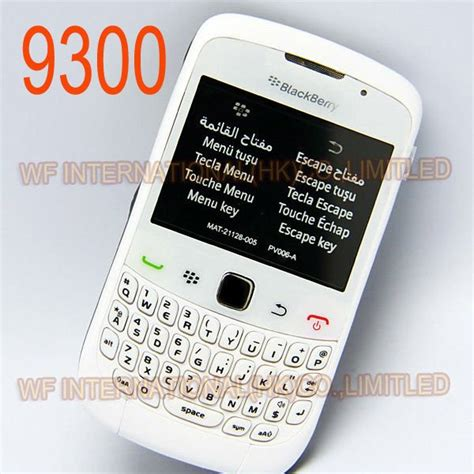 Hp Blackberry Curve 9300 White original blackberry 9300 curve mobile phone smartphone unlocked 3g wifi bluetooth cellphone