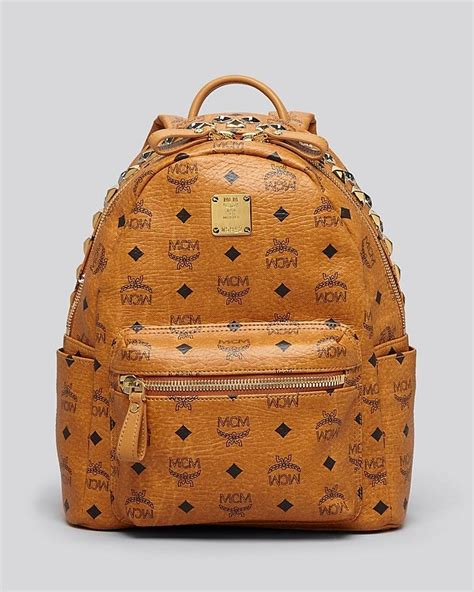 Backpack Stud Crown mcm backpack stark small crown stud stuff i want crowns backpacks and studs