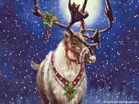 wallpaper christmas reindeer christmas santa flying reindeer sleigh wallpapers download